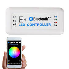 bluetooth rgb color changing remote controller by cell phone ios