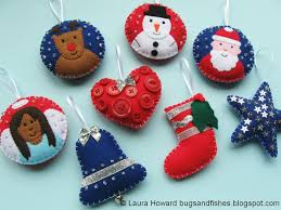 bugs and fishes by lupin all 8 free felt christmas ornament tutorials