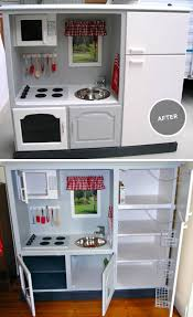 tv cabinet kids kitchen made out of old entertainment center picmia
