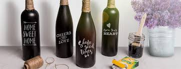 Diy Wine Bottle Decor decorate on a dime with diy wine bottle vases sutter home family