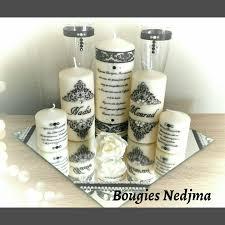 bougie personnalisã e mariage composition mariés 5 bougies avec plateau miroir et ses 2 flûtes