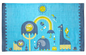 Bright Blue Rug Hello Wonderful 8 Playful And Whimsical Kids U0027 Rugs