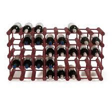 wine enthusiast 40 bottle mahogany floor wine rack 640 40 04 the
