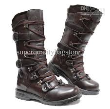 s boots lace fashion s leather shoes knee high boots lace up buckle