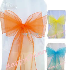 chair ribbons orange banquet sashes ribbons organza chair sashes chair cover tie