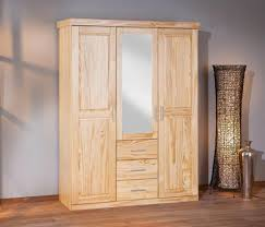 Schlafzimmerschrank Zerlegen Celso 3 Türen 3 Schubladen Kiefer Lackiert