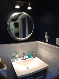 Vanity Plus Bahtroom Nice Wall Lamp Above Nautical Bathroom Mirrors Near