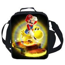 cute cartoon bag super mario cooler lunch bag for kids boys