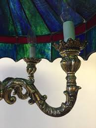 tiffany style vintage chandelier antiquevintage