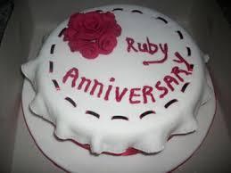 ruby wedding cakes wedding cake
