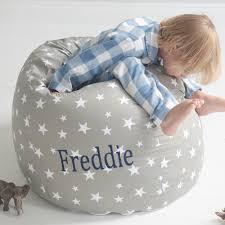 personalised grey star print beanbag my 1st years
