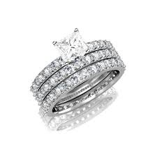 trio wedding sets 3 carat trio wedding bridal set on closeout sale limited time