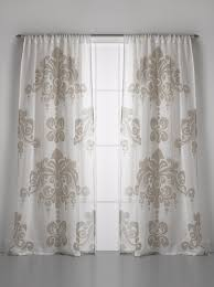 Curtain Pair Couture Dreams Enchantique Linen Gauze Ivory Curtain Panel