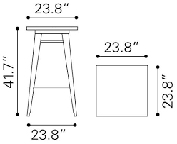 Zuo Modern Bar Table Zuo Modern Tables Outdoor Furniture Olympia Bar Table