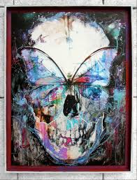 butterfly skull framed by by doc on deviantart