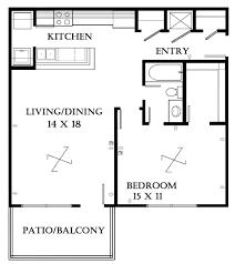 One Bedroom Open Floor Plans One Bedroom Floor Plans Myhousespot Com