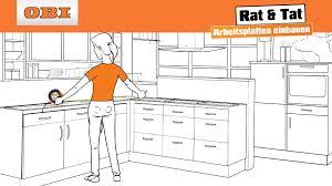 küche einbauen küche arbeitsplatte richtig einbauen anleitung rat tat
