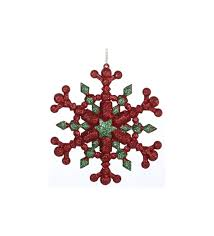 the aisle festive glitter six pointed snowflake