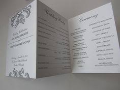 customized wedding programs printed wedding program set of 25 custom two sided wedding