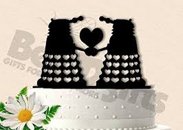 dr who cake topper daleks dr who inspired wedding cake topper handmade