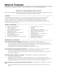 Insurance Sample Resume by Quality Assurance Resume Samples Free Sample Resumes Sample