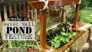 diy make a water wall pond feature youtube