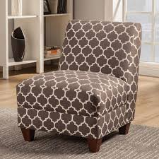 Grey And White Accent Chair Coaster Contemporary Armless Accent Chair In Gray And White