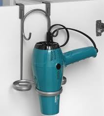 Hair Dryer And Flat Iron Holder Wall Mount bathroom hair dryer flat iron holder hair dryer caddy hair