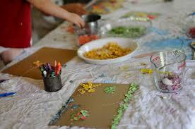 friday craft eggshell mosaic