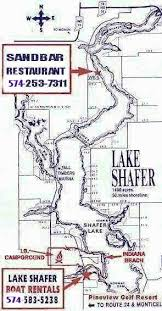 map to indiana map map to lake shafer boat rentals with 295 x 566