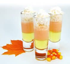 candy corn shooter drink recipe fall harvest candy corn and
