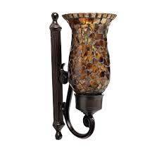 Brown Wall Sconces Wall Sconce Ideas Remarkable Dark Mosaic Wall Sconce Brown Glass