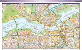 Ottawa Canada Map Large Detailed Road Map Of Central Part Of Ottawa City Vidiani
