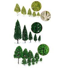 27pcs mini tree set scenery architectural landscape model trees in