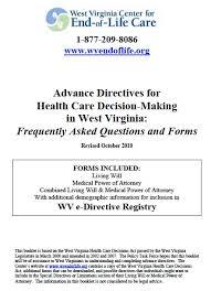 free west virginia medical power of attorney form u2013 pdf template