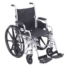 drive medical 18 inch poly fly light weight transport chair