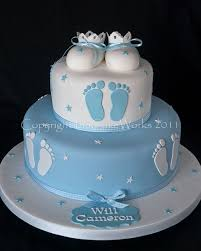 Centerpieces For Boy Baptism by Best 25 Baby Boy Cakes Ideas On Pinterest Boy Baby Shower Cakes