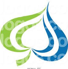 royalty free green and blue spade logo by elena 2537