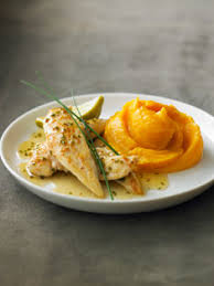 douce cuisine recette de poulet au citron vert et sa purée de patate douce
