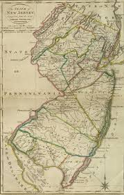 Map New Jersey 1814 New Jersey Map