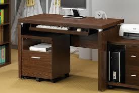 Teak Computer Desk Furniture Computer Keyboard Table Clear Glass Computer Desk