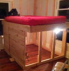 Elevated Bed Frames Diy Elevated Bed Frame With Storage Underneath 07 House N
