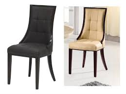 Dining Chair Outlet Furniture Leather Dining Chair Elegant Coaster Silver Leather