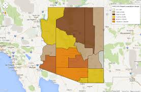 County Map Of Arizona by Changing Face Of State Seen At County Level Where Hispanic