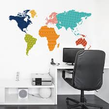 large colorful world map wall sticker educational map pvc decal large colorful world map wall sticker educational map pvc decal mural art home office decor