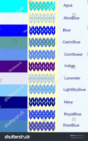 blue color palette set knitted stripes blue color palette stock vector 246419725
