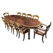 Mahogany Dining Room Table And 8 Chairs Antique Mahogany Ormolu Dining Table And Ten Chairs At 1stdibs