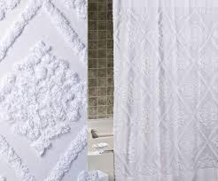 Shower Curtains White Fabric Unique Textured White Luxury Fabric Shower Curtains Bathroom