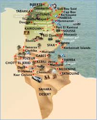 map of tunisia with cities tunisia resorts and hotels in tunisia with tunisia