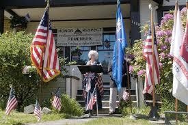 dozens gather to honor fallen at captain joseph house peninsula